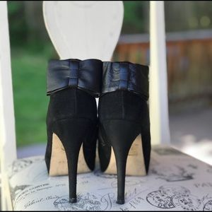 Dolce Vita Suede and Leather Bow Booties